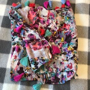 Women's Square Floral Scarf